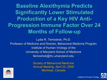 Baseline Alexithymia Predicts Significantly Lower Stimulated ...