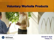 Voluntary Worksite Products - Actuary.com