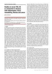 Studies on serum YKL-40 as a biomarker in diseases ... - Danmedj.dk