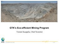 GTK's Eco-efficient Mining Program