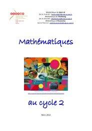 Mathématiques au cycle 2 - CRDP Basse-Normandie