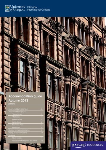 Accommodation guide Autumn 2013 - Kaplan International Colleges