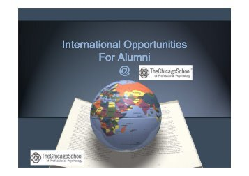 International Opportunities for Alumni Presentation