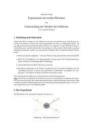 Experimente mit reellen Photonen Untersuchung der Struktur des ...