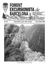 Butlletí núm 267 Foment Excursionista Barcelona.pdf - Biblioteca del ...