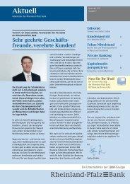 Download Newsletter 7, November 2011 - Rheinland Pfalz Bank