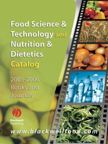 Food Science & Technology and Nutrition & Dietetics Catalog