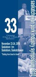 Symposium 20010Cover_FINAL1.qxd - SaskPork