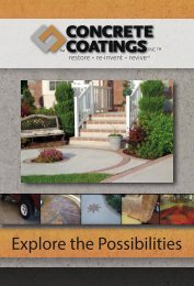 Explore the Possibilities - Concrete Coatings Incorporated