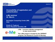 Accessibility of registration and authentication e-Me ... - Karde AS