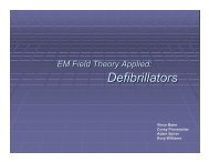 EM Field Theory Applied: Defibrillators