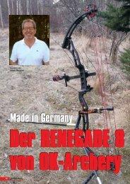 Renegade von OK Archery - Bogensportverlag