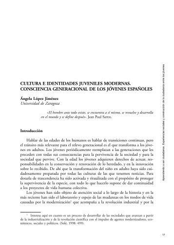 1. Cultura e identidades juveniles modernas. Consciencia ... - Injuve