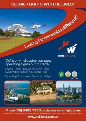 SCENIC FLIGHTS WITH HELIWEST