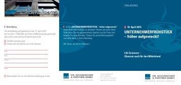Einladung UNTERNEHMERFRÜHSTÜCK 18.04.2013 - Dr ...