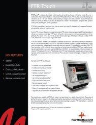 FTR Touch - Precise Digital