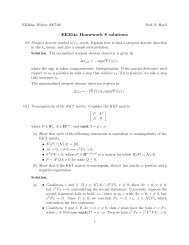 ee364a homework solutions