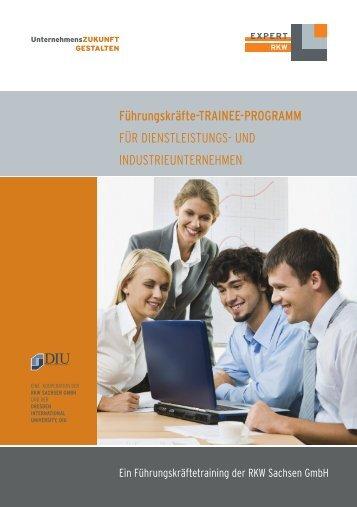 Führungskräfte-TRAINEE-PROGRAMM Broschüre - RKW Sachsen