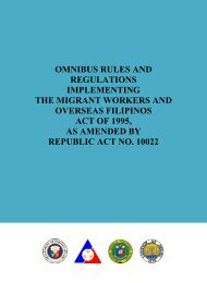 omnibus rules and regulations implementing the migrant ... - OWWA