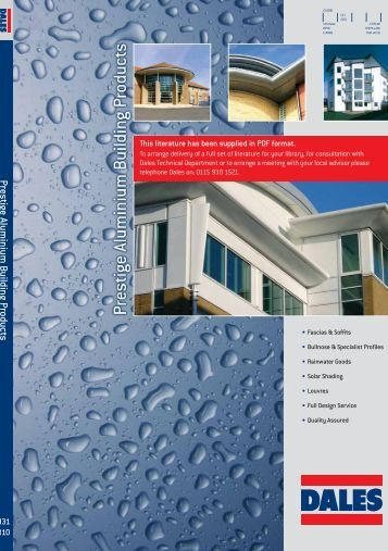 Prestige aluminium building products - RIBA Product Selector