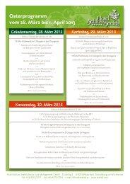download osterprogramm 2013 (pdf) - Hotel Schloss Seefels