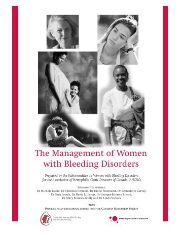 The Management Of Women With Bleeding Disorders