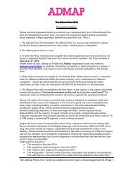 The Admap Prize 2013 Terms & Conditions www.warc.com ...