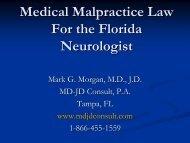 Medical Malpractice Triage - Florida Society of Neurology