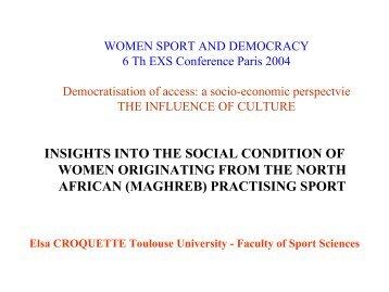 Elsa CROQUETTE - EWS European Women and Sport