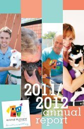 FY 11/12 Annual Report - Animal Humane