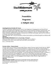Frauenbüro Programm 2. Halbjahr 2012 - Stadt Rödermark