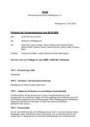 Protokoll der Vorstandssitzung vom 06.05.2008 ... - Weldergoven