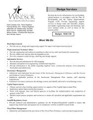 Design Services - Town of Windsor