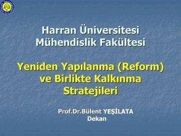 Kalite Gelişim Reformu - Mühendislik Fakültesi - Harran Üniversitesi