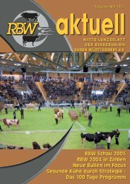 RBW aktuell Mai 2005 - Rinderunion Baden-Württemberg e.V.