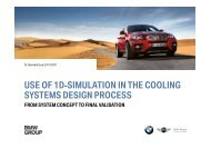 Use Of 1D Simulation in the Cooling Systems Design Process