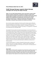 Press release (pdf) - PoINT Software & Systems GmbH