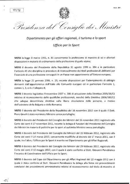 Ufficio Per Lo Sport.Alberto Cabarle Ufficio Per Lo Sport