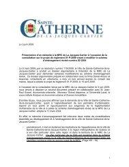Présentation à la MRC - Ville de Sainte-Catherine-de-la-Jacques ...