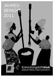 JAHRES- BERICHT 2011 - beim Entwicklungshilfeklub