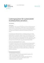 Ledningssystem för systematiskt kvalitetsarbete (struktur) - Kil