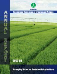 Annual Report 2007-2008 - International Commission on Irrigation ...