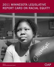 2011 minnesota legislative report card on racial equity - Organizing ...