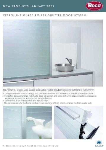 Vetro-Line Glass Cassette Roller Shutter System - Roco