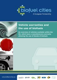 Vehicle warranties and the use of biofuels - Biofuel Cities