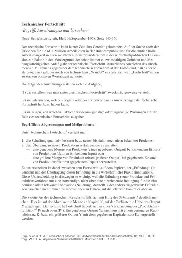Technischer Fortschritt - Karl-Heinz Dignas