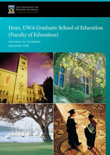 Faculty of Education - His.admin.uwa.edu.au - The University of ...