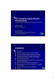 Regional Market Integration and Cross Border Settlement
