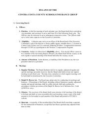 BYLAWS OF THE CONTRA COSTA COUNTY SCHOOLS ... - CCCSIG