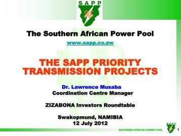 Regional power status in african power pools the infrastructure the sapp priority transmission projects southern african power pool sciox Images
